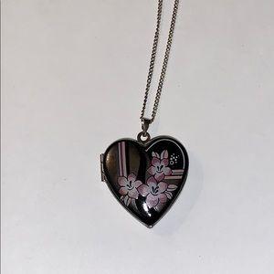 Michaela Frey Enamel Locket Necklace
